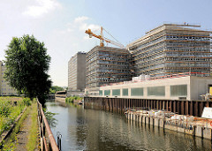 Bausstelle am Sonninkanal in HH-Hammerbrook.