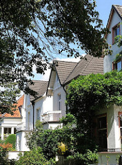Stadtvillen im Hamburger Stadtteil Marienthal - Bezirk Hamburg Wandsbek.