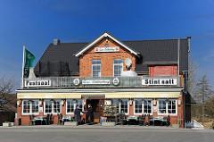 Restaurant am Elbdeich - Ausflugsziele in Hamburg - Fischerestauren, Stint satt.