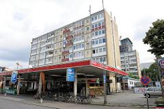 Esso Tankstelle, Esso Hochhäuser an der Reeperbahn auf Hamburg St. Pauli - die Gebäude sind vom Abriss bedroht.