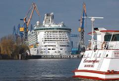 Blohm + Voss Dock Elbe 17 - Freedom of the Seas eingedockt.