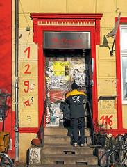Post für die Volxküche an der St. Pauli Hafenstrasse - Bilder aus den Hamburger Stadtteilen - Fotos aus St. Pauli.