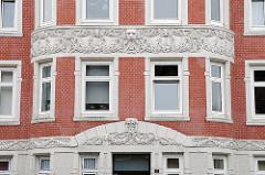 Jugendstil Architektur - Fassadendekor, Jugendstildekor - Wohnhaus Pagenfelder Strasse.