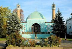 Imam Ali Moschee - Islamisches Zentrum Hamburgs, viertälteste Moschee Deutschland, erbaut 1965. ARchitekten Schramm und Elingius.