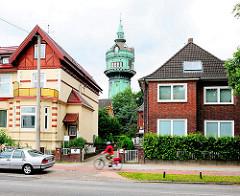 Wasserturm Hamburg Lokstedt - Wahrzeichen des Stadtteils; erbaut 1910/11 - Entwurf Zivilingenieure Ludwig + Hermann Mannes - Höhe 50,25m.
