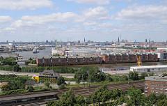 Luftaufnahme Hamburg Kleiner Grasbook - Saalehafen + Hansahafen - Speichergebäude und Kräne.
