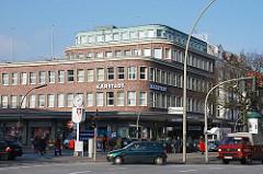 ehem. Karstadt Gebäude / Eppendorfer Landstrasse Ecke Kümmellstrasse - 1950er Jahre Architektur Denkmalschutz.