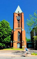 Kirchturm der St. Thomas-Kirche in Hamburg Rothenburgsort.
