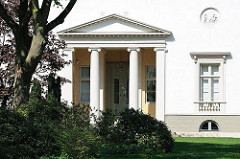 Hamburger Architekturgeschichte - Bilder vom der Klassizistischen Architektur, Landhaus Bauer - Architekt Christian Frederik Hansen.