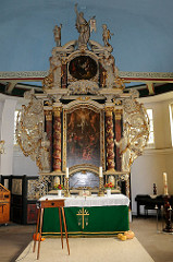 Geschnitzter Barockaltar St. Maria Magdalena Kirche.