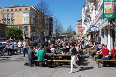 Piazza am Schulterblatt - Hamburger Szeneviertel Schanzenviertel.