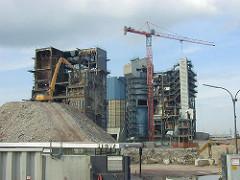 Abriss des HEW Gebäudes am Strandkai / Magedburger Hafen (2001)