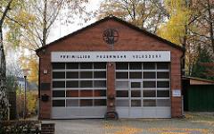 Gebäude der Freiwillige Feuerwehr Volksdorf.