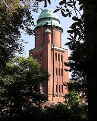Wasserturm des Alten Barmbeker Krankenhauses an der Fuhlsbüttler Strasse.
