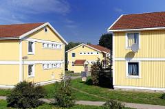 """Pavillondorf in der Sülldorfer Feldmarkt -  betrieben vom Unterkunfts- und Sozialmanagement """"fördern und wohnen"""""""