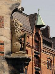 Historische ARchitektur Hamburgs - Gebäude in der Speicherstadt.