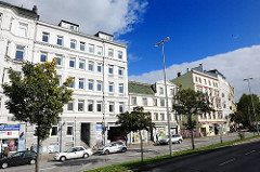 Architektur der Gründerzeit - Etagenhäuser in Hamburg St. Pauli; Bilder der Hamburger Architektur.