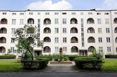 Innenhof Daniel Bartels Gebäude - Brunnenanlage; Stadtteil Hamburg Barmbek Süd.