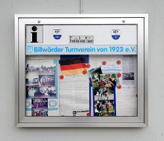 Informationstafel Billwärder Turnverein von 1923.