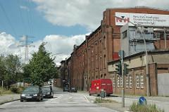 Industriegeschichte - Industriearchtektur Harburgs  New-York Hamburger Gummi-Waaren Compagnie Aktiengesellschaft. Gebäude an der Nartenstrasse.