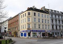 Gründerzeit Etagenhäuser im Hamburger Stadtteil Altona Altstadt - Wohnhäuser Holstenstrasse / Chemnitzstrasse.