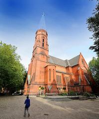 Friedenskirche in Hamburg St. Pauli; erbaut 1895, Architekt Johannes Otzen.