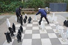 Schachspieler im Öjendorfer Park - Strassenschachspiel.