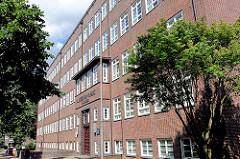 Ehem. Gymnasium Caspar Voght Strasse; erbaut 1929 / 1931 - Architekt Firtz Schumacher; Bilder aus Hamburg Hamm.