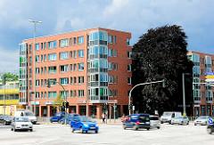 Neubau und Strassenverkehr am Siemersplatz in Hamburg Lokstedt - Fotos aus dem Stadtteil.