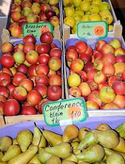 Birnen und Äpfel aus dem Alten Land - Obstverkauf vom Obsthof.