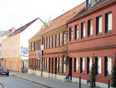 Historisches Gebäude der  Drahtstiftefabrik Feldtmann in Hamburg Ottensen. Denkmalschutz in Hamburg.