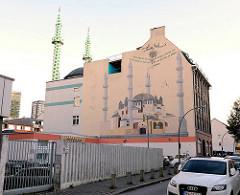 Minarette der Centrums Moschee in Hamburg St. Georg - Merkez Camii Moschee;  Kunstprojekt von Oran Burchardt + der Leitung der Moschee, 2009 umgesetzt.