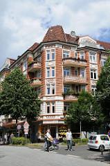 Hamburger Wohnhäuser - Jugendstilgebäude in Hamburg Winterhude.