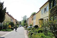 Bilder von der Gartenstadt Steenkampsiedlung in Hamburg Bahrenfeld, Bezirk Altona.