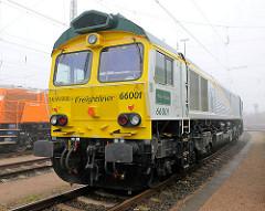 Frightliner Güterlokomotive 6601 / Willi Brandt - Güterbahnhof Hamburger Hafen.