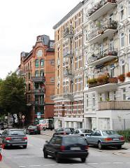 Architektur in Hamburg Sankt Pauli - Wohnhäuser in der Simon von Utrecht Strasse.