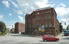 Historische Industriearchitektur Hamburg Harburgs - New-York Hamburger Gummi-Waaren Compagnie Aktiengesellschaft. Nartenstrasse Ecke Neuländerstrasse.
