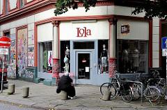 Geschäft in einer Seitenstrasse von Hamburg St. Pauli - Leben und Wohnen in den Stadtteilen - Fotos aus Sankt Pauli.