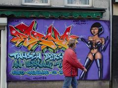 Grafitti am Steindamm - Hamburg St. Georg.