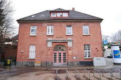 Historisches Bahnhofsgebäude Hamburg Ohlstedt.