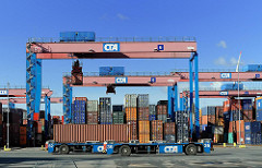 AGV - Automated Guided Vehicle Hafen Hamburg CTA