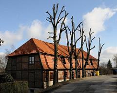 Historisches Gebäude am Moorfleeter Deich.