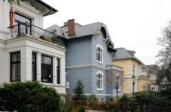 Stadtvillen - historische Architektur, Wohnhäuser - Bellmannstrasse Stadtteil Gross Flottbek.