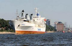 Das Frachtschiff EMERALD auf der Elbe vor Hamburg Neumühlen - Bilder aus dem Hamburger Hafen.
