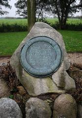 Gedenkstein auf dem Friedhof der Namenlosen - Insel Neuwerk.