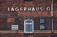 Lagerhaus G am Dessauer Ufer - Aussenlager KZ Neuengamme. Dankmal in Hamburg.