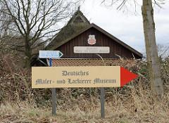 Hinweisschild Deutsches Maler- und Lackierer Museum.