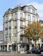Wohngebäude am Hofweg in Hamburg Uhlenhorst - Architekturfotos aus Hamburg - Jugendstilarchitektur.