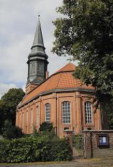 Kirche St. Nikolai - Kirchenschiff + Kirchturm Hamburg Billwerder