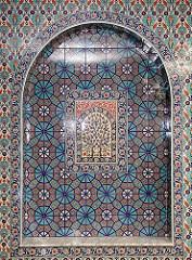 Kachelverzierung im Gebetsraum - osmanisch türkisches Dekor.